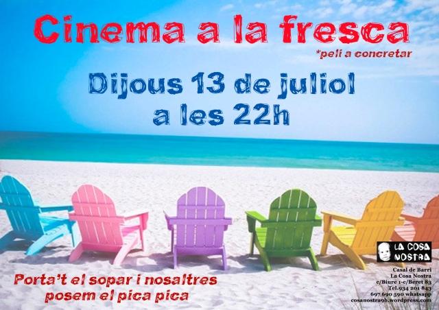 cinema a la fresca juliol